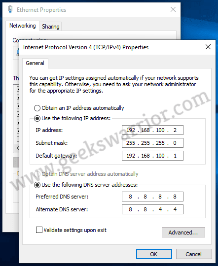 How to Configure an IP Address on Windows 10