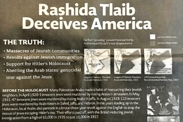 Furious reaction to accurate advertisement calling out Rep. Rashida Tlaib's Holocaust lies