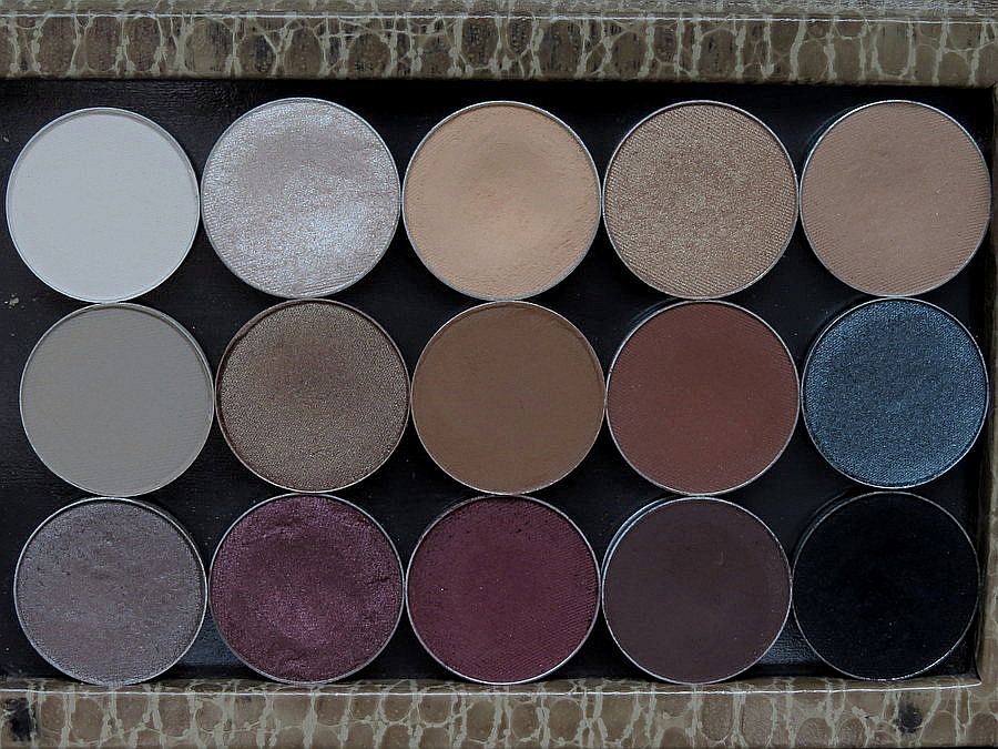 what single eyeshadows are in my z palette?