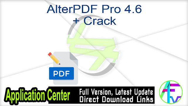 AlterPDF Pro 4.6 + Crack