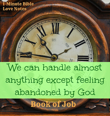 feeling abandoned by God, Job