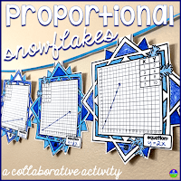 Proportional relationships snowflake pennants