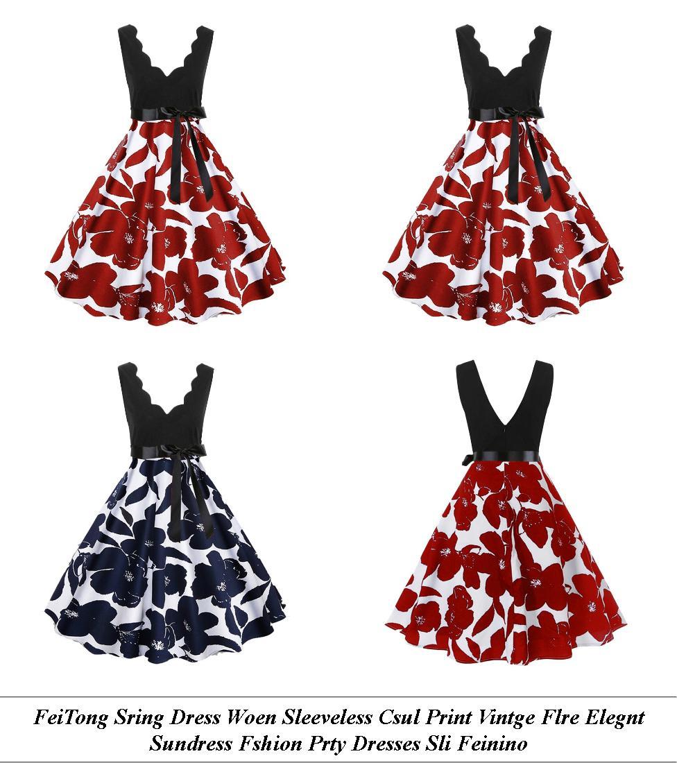 Long Prom Dresses - Usa Sale - Polka Dot Dress - Cheap Womens Summer Clothes