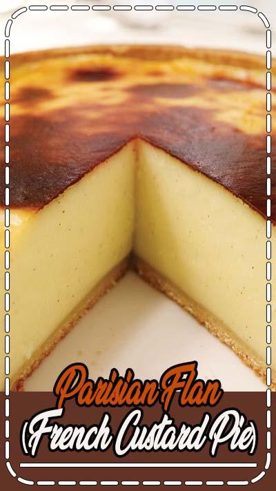 Ricardo's recipes : Parisian Flan (French Custard Pie)