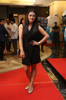 Actress Shraddha Srinath Stills in Black Short Dress at SIIMA Short Film Awards 2017 .COM 0034.JPG