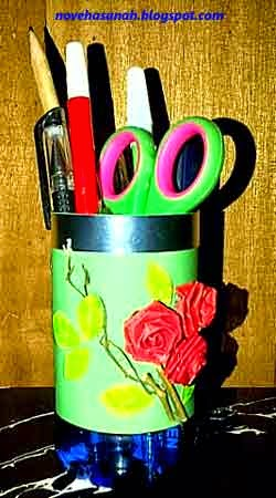 Kerajinan Tangan dari Botol Plastik Bekas: Tempat Pensil