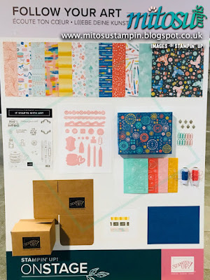 Follow Your Art Suite NEW Stampin' Up! Products #onstage2019 Display Board from Mitosu Crafts UK