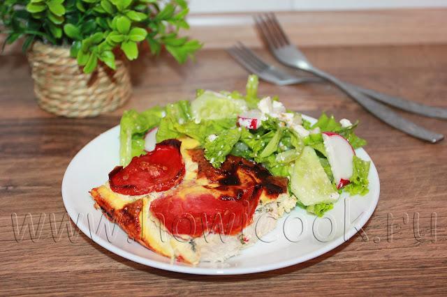 рецепт запеканки с курицей и помидорами
