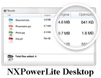 تحميل برنامج ضغط المستندات والصور NXPowerLite Desktop NXPowerLite+Deskto