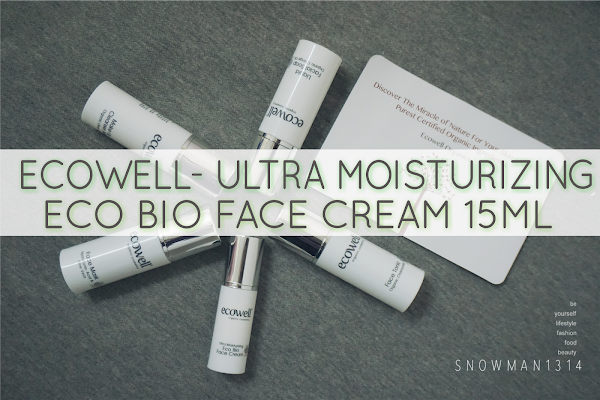 [Review] Anti-aging Ecowell Facial Care Essentials - Eco Bio Face Cream