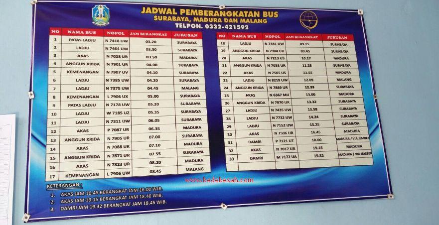 Jadwal Bus Bondowoso Jember