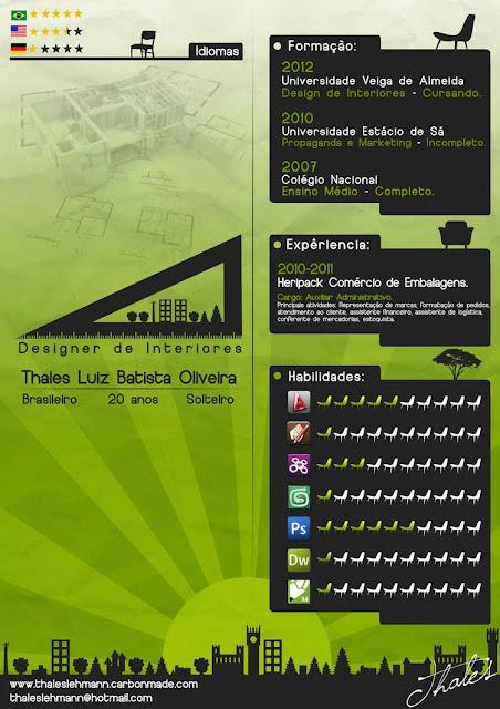 curriculum vitae creativos ejemplos verde