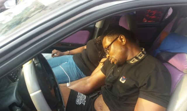 Man & Woman Returning From The Club Found Dead In Running Car In Mende, Lagos.