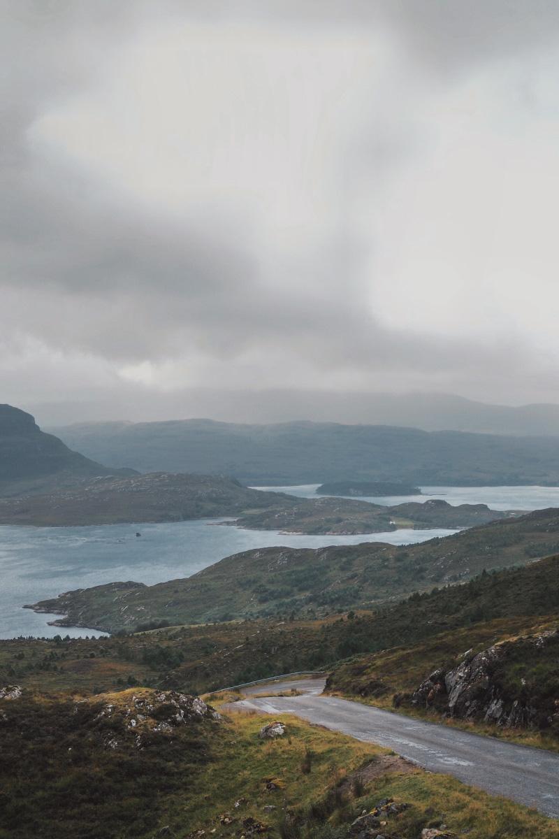 Panorama sur la vallée de Torridon dans les Highlands en Ecosse