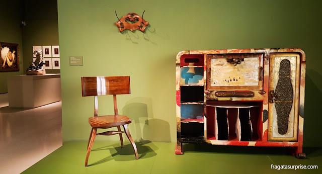 Mobiliário modernista no Museu Nacional de Arte da Catalunha, em Barcelona