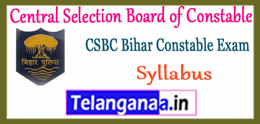 CSBC Bihar Constable Syllabus 2018 Sample Model Previous Solved Question Papers