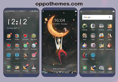 Waxing Crescent Moon Theme For Oppo Smartphone Android