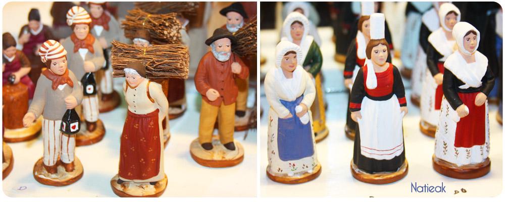 Les Santons de Noël   au marché de Noël de la Défense