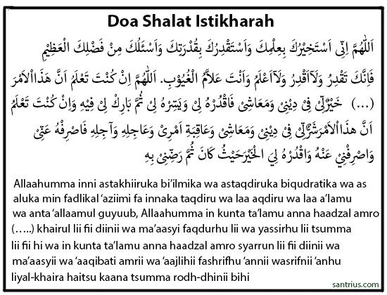Doa Shalat Istikharah Arab Dan Latin