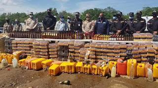 Botan más 6,850 embaces con bebidas en la zona fronteriza