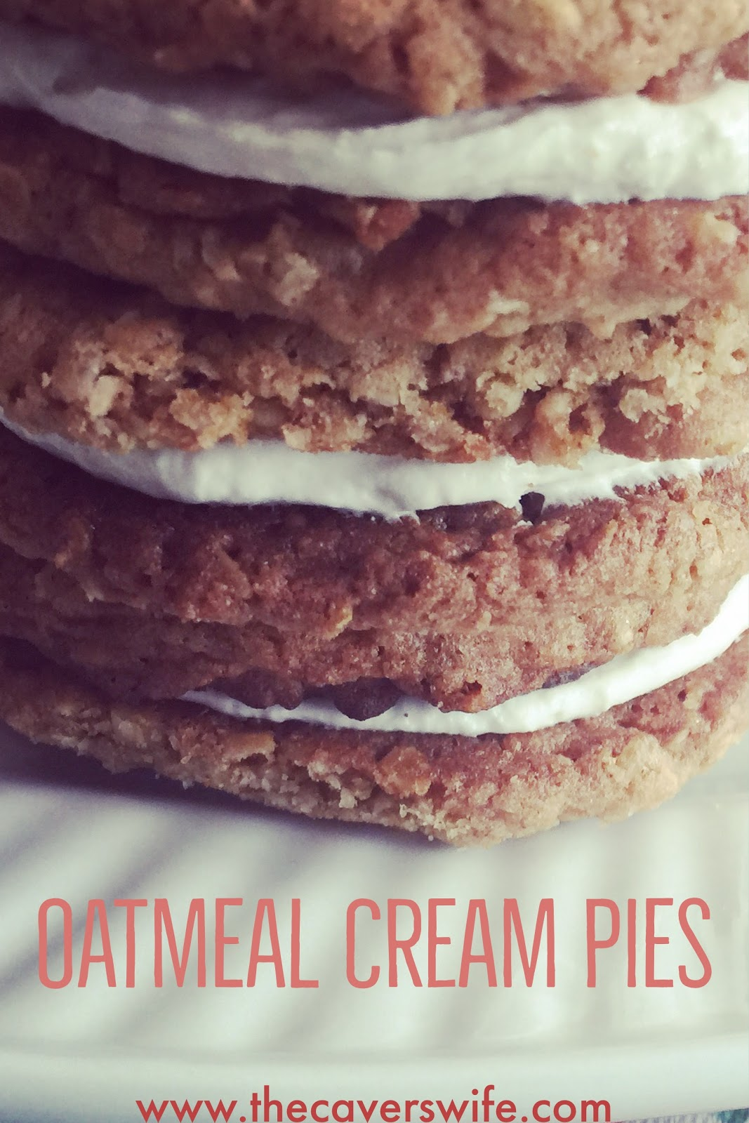 """This is it. The reason to consume a ridiculous amount of sugar and butter. The reason """"the man"""" invented the toothbrush. The reason to ignore what the voices in your head are telling you. The reason to wear stretchy pants. The reason to be unreasonable.    This is Oatmeal Cream Pie.    Take a moment. Gather your thoughts. This. Is. Happening."""