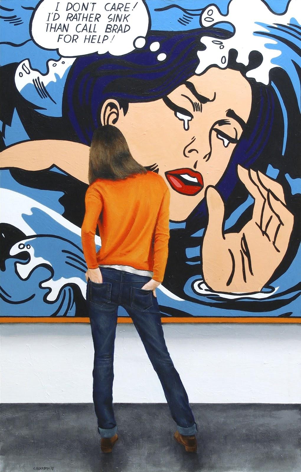 Roy Lichtenstein Artwork - Hopeless, Drowning Girl, In