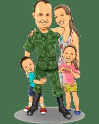 Caricatura Digital Família