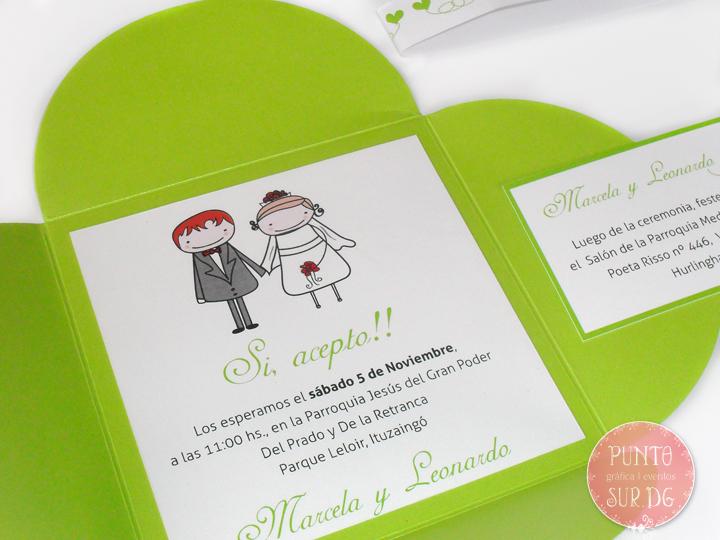Puntosur Gráfica Para Eventos Tarjeta Invitación Informal