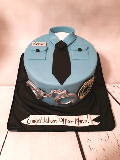 Police Theme Cake For An Officers Graduation Party