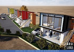 Konsep Desain Rumah dengan Bekas Kontainer