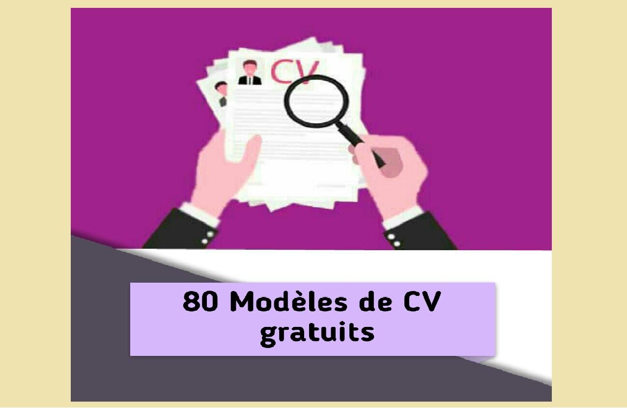 80 mod u00e8les cv word gratuit moderne