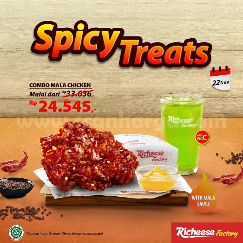 Promo Richeese Factory Spicy Treats harga mulai Rp 24.545 - 22 November 2020