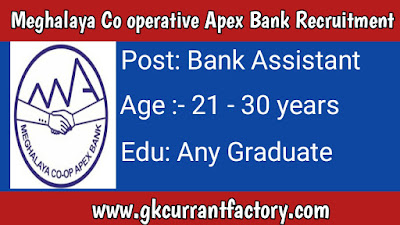 Meghalay Apex Bank Assistant Recruitment