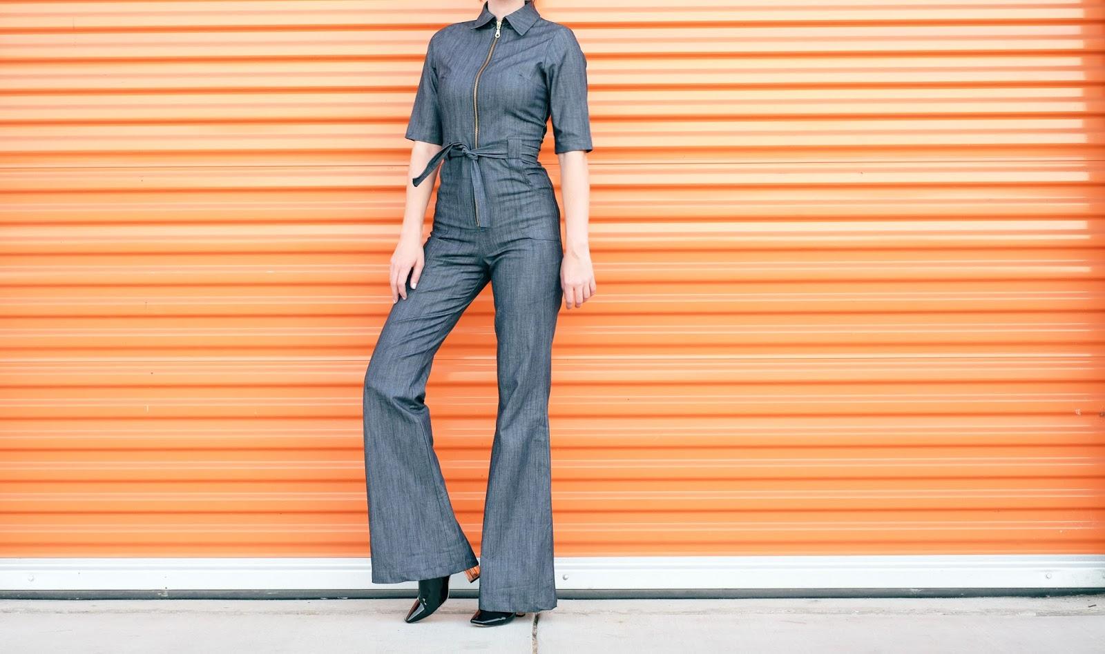 Denim Jumpsuit & Boots // - A Fashion Nerd