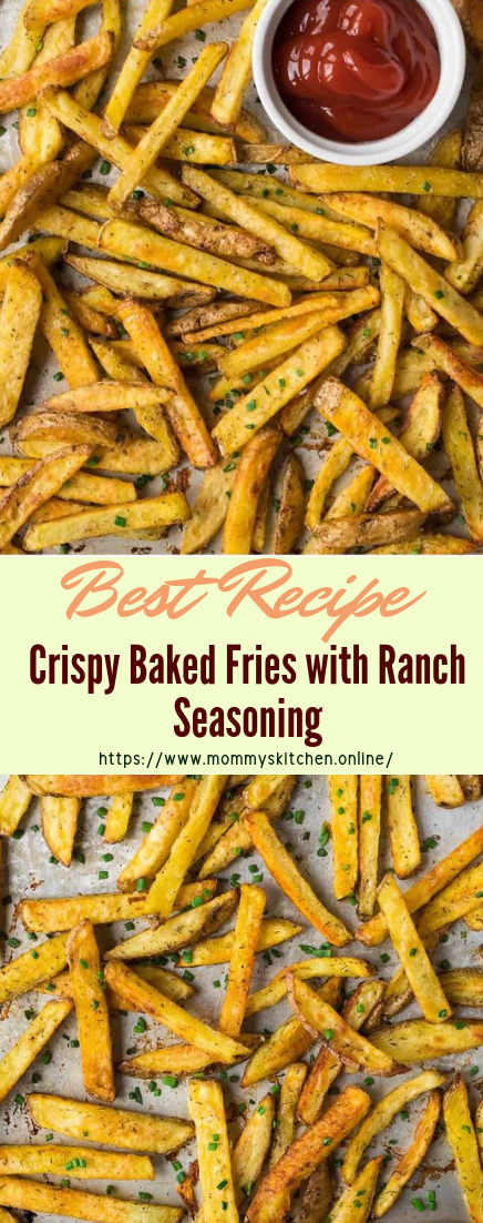 Crispy Baked Fries with Ranch Seasoning #vegan #vegetarian #soup #breakfast #lunch