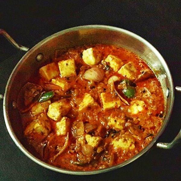 Kadhai Paneer recipe easy to home