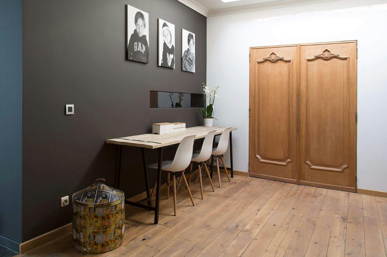 Bureau Design Gebruikt.Bureau Tafel Op Maat Wood Steel Design Unieke Meubels Op