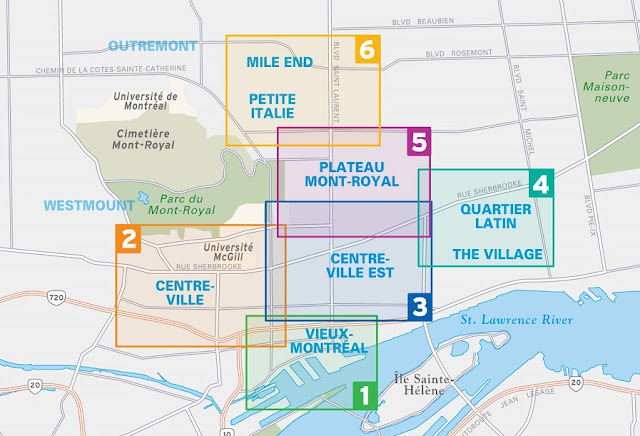 Onde ficar em Montreal - Regiões