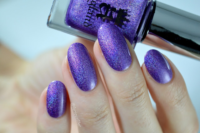 angel grace swatch violet holographic nail polish review
