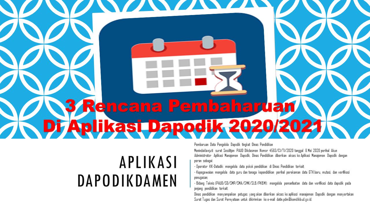 3 Rencana Pembaharuan Di Aplikasi Dapodik 2020/2021 - SD ...