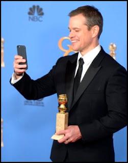 Matt Damon en los Globos de Oro 2016