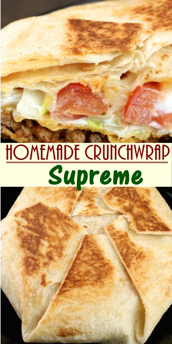 Homemade Crunchwrap Supreme Recipe #dinnerrecipes