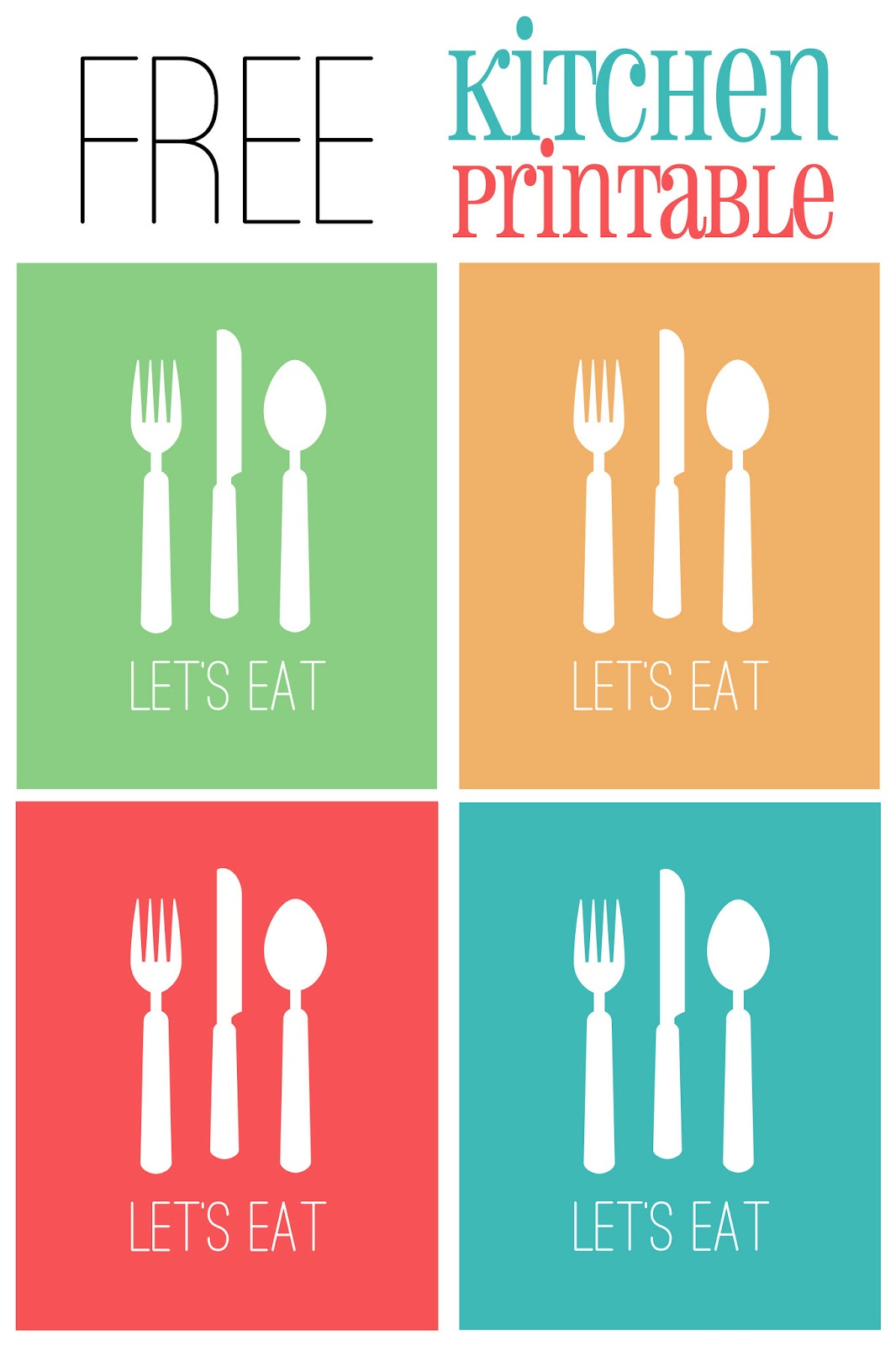 Let Eat Kitchen Printable Colors Cupcake Diaries