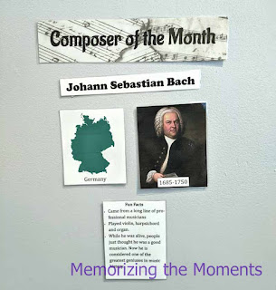 Printables and resource ideas for Composer of the Month