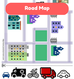 Printable Games by Practical Mom: Road Map