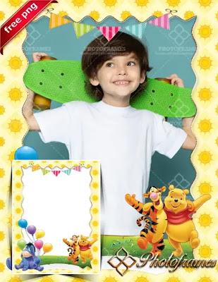 Marco de cumpleaños de Winnie the Pooh