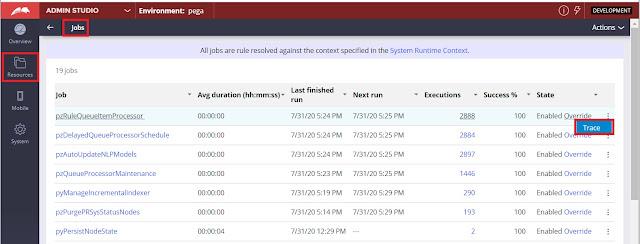 job scheduler from admin studio