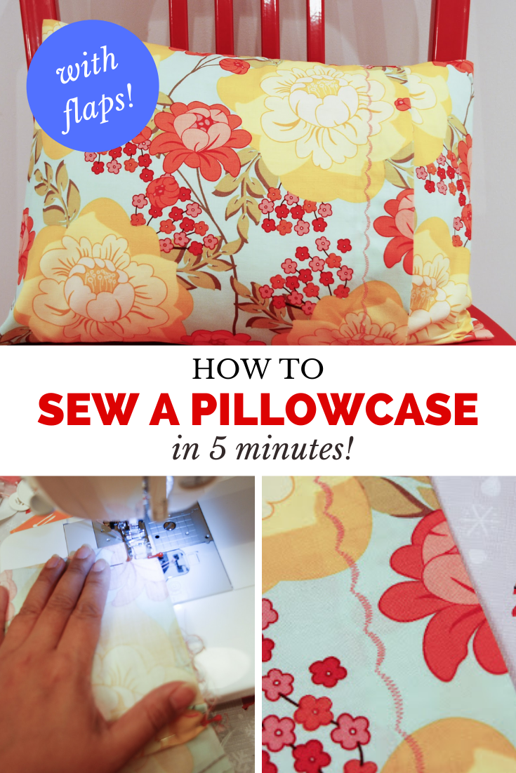 how to sew a pillowcase, easy pillowcase tutorial, how to sew pillowcase with flap, envelope pillowcase