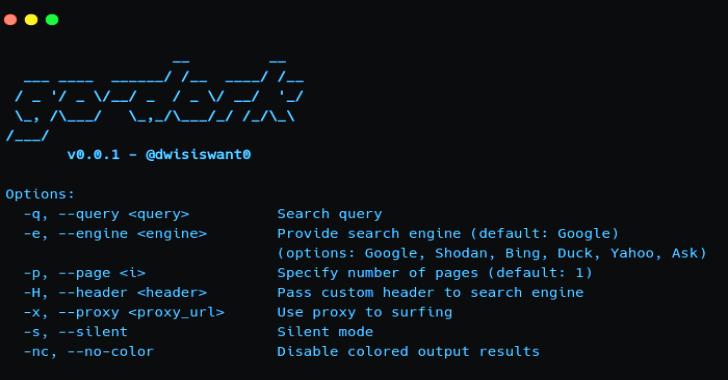 Go-Dork : The Fastest Dork Scanner Written In Go