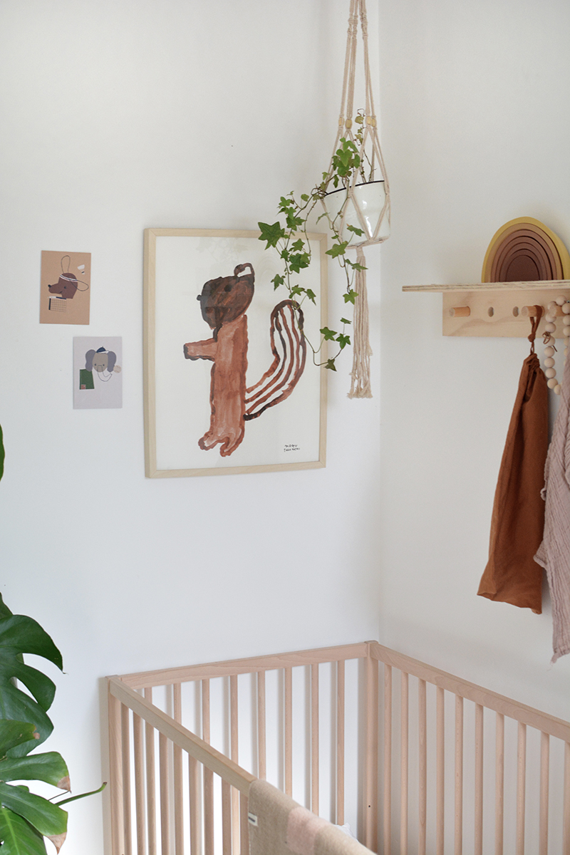 neutral nursery with cot